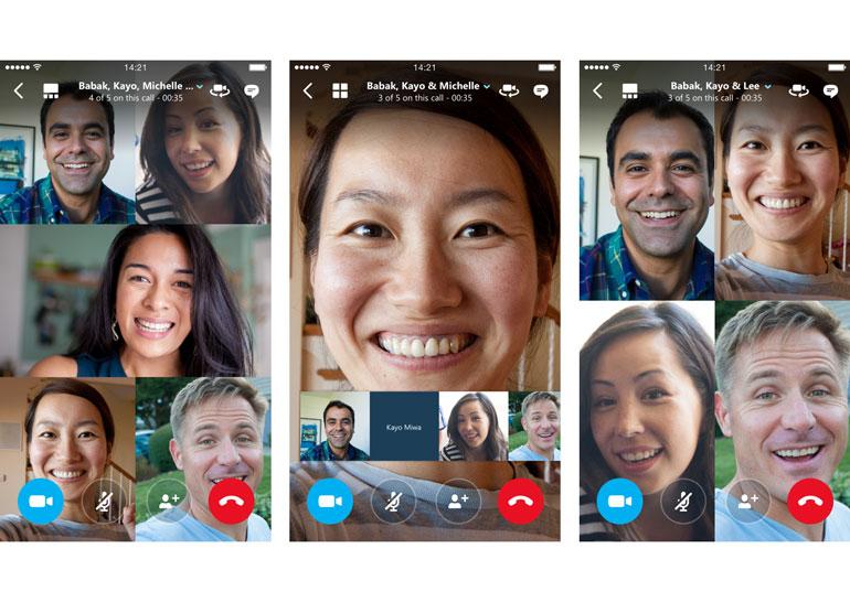 В мобильной версии Skype появилась функция групповых видеозвонков с поддержкой до 25 пользователей