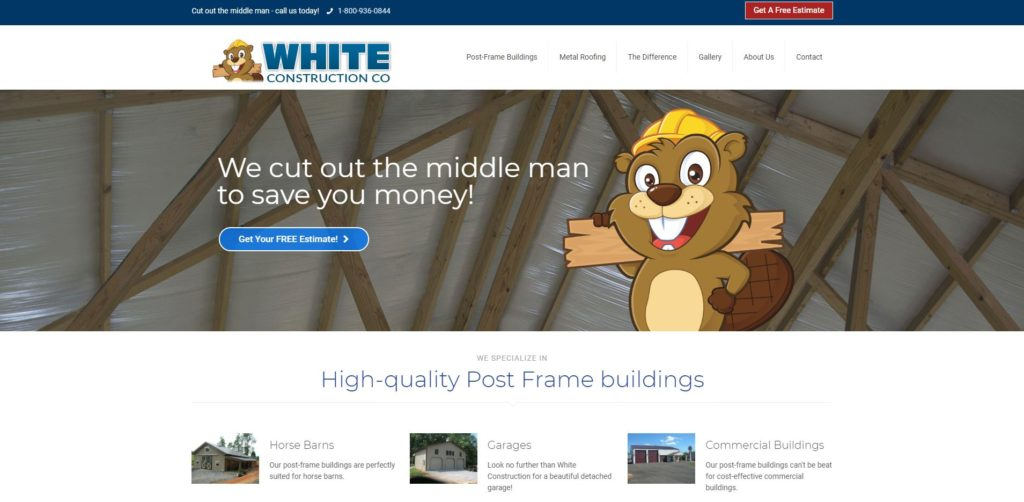 Website Redesign Case Study White Construction Company - ITD