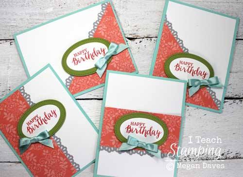 One Sheet Wonder Template for Batch Card Making I Teach Stamping