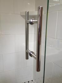 ladder-chrome-shower-door-parts-handles  Home Inspiring