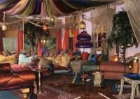 living-room-with-moroccan-decoration-furnitures  Home ...
