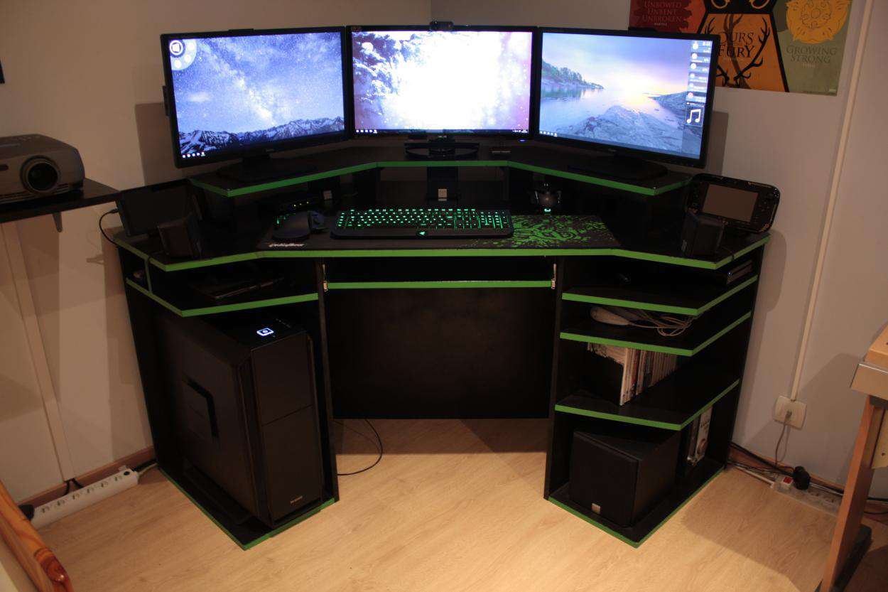 Pc Gaming Desk Modern Corner Gaming Computer Desk Inspirations Design