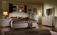 silver-chrome-queen-bedroom-sets-with-brown-mattress-and ...