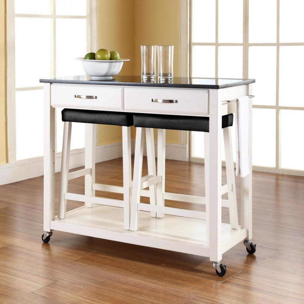 Stools Kitchen Islands White Kitchen Island Cart With Stools