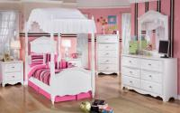 cute-small-canopy-bed-white-bedroom-furniture-for-girls ...