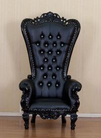 unique-gothic-black-leather-chair  Home Inspiring
