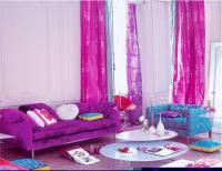 Adorable Pink and Purple Blue Living room with Purple ...