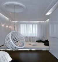 white-hanging-ceiling-egg-chair