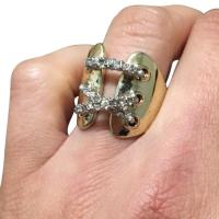 CZ White Gold plated Engagement Ring 61% Off #9580714 ...