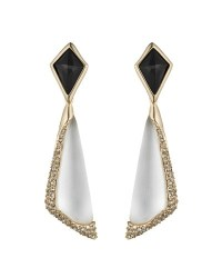 Alexis Bittar New Crystal Encrusted White Lucite Drop ...