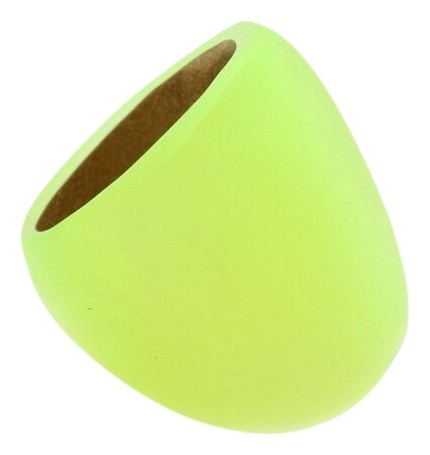 Alexis Bittar Yellow Neon New Lucite Block Dome Cocktail