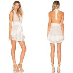 Small Crop Of White Halter Dress