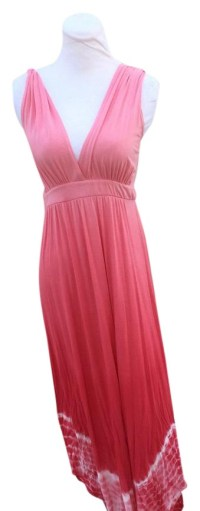 Gypsy05 Salmon Pink Tie Die Long Casual Maxi Dress Size 6 ...