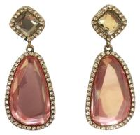 Jennifer Miller Jewelry Rose Gold Pink Crystal and Pave ...