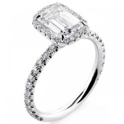 Small Of Emerald Cut Engagement Rings