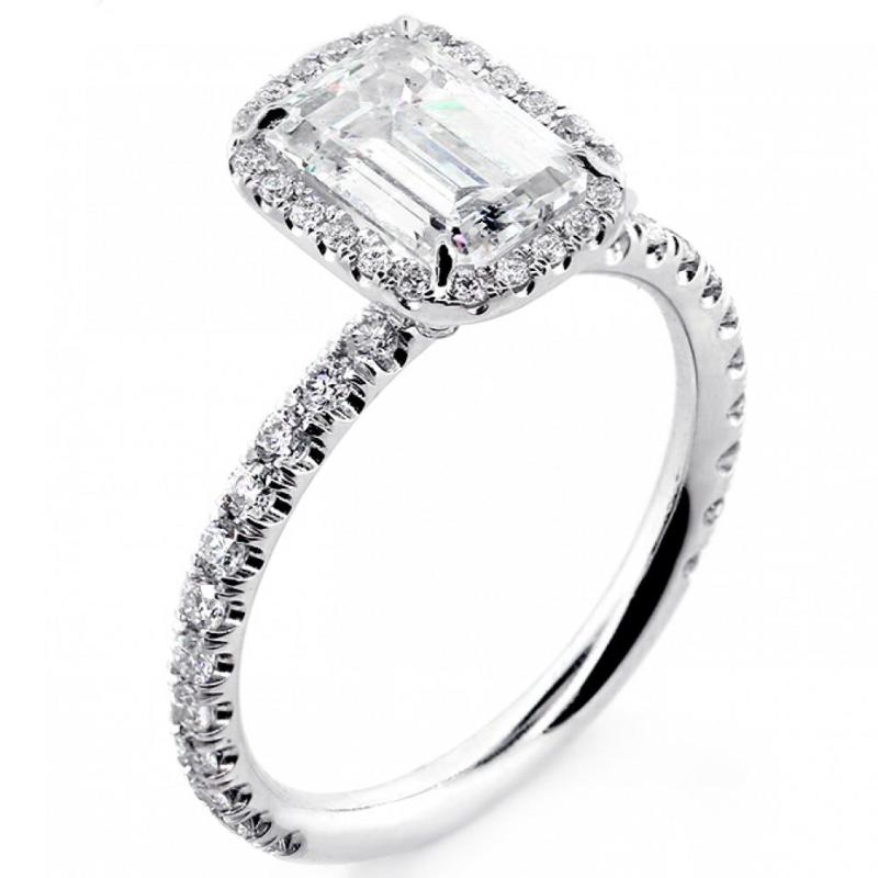 Large Of Emerald Cut Engagement Rings