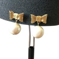 Kate Spade Gold Ivory Gold-plated Bows and Faux Pearl Drop ...
