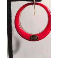Alexis Bittar Salmon Silver & Coral Red Hoop For Pierced ...
