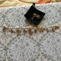 Chanel pearl earring and bracelet set - 39% Off Retail