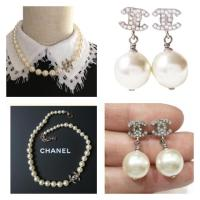 Chanel And Earrings Set Necklace