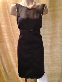 Vera Wang Charcoal/Black/Silver Satin/ Modern Bridesmaid