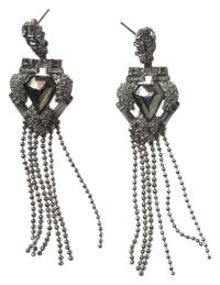 Alexis Bittar Silver Fringe / Chandelier Earrings - Tradesy