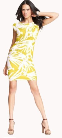 Ann Taylor XS Petite Yellow-Green Dress - 65% Off Retail