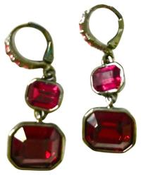 red crystal drop earrings on Tradesy