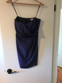 J.Crew Navy Silk Taffeta Strapless Formal Bridesmaid/Mob