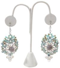 Blue Beaded Chandelier Earrings - Tradesy