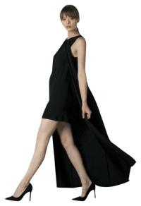 Black Evening Long Cocktail Dress Size 12 (L)