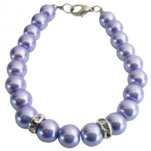 Flower Girl Bracelet Lilac Pearls Attractive Jewelry