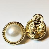 MONET Gold Clip On Faux Pearl Earrings - Tradesy