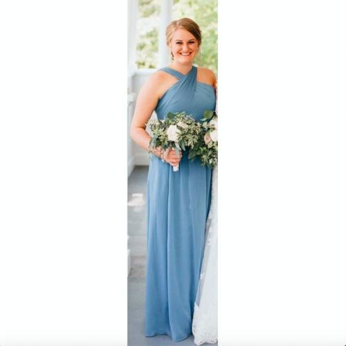Medium Of Slate Blue Bridesmaid Dresses