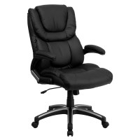 Flash Furniture BT-9896H-GG High Back Black Leather ...