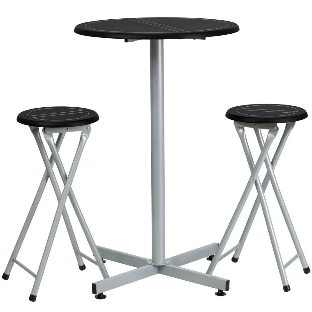 Bar Stools And Table Set Flash Furniture Yb Yj987 Gg Bar Height Table And Stool Set