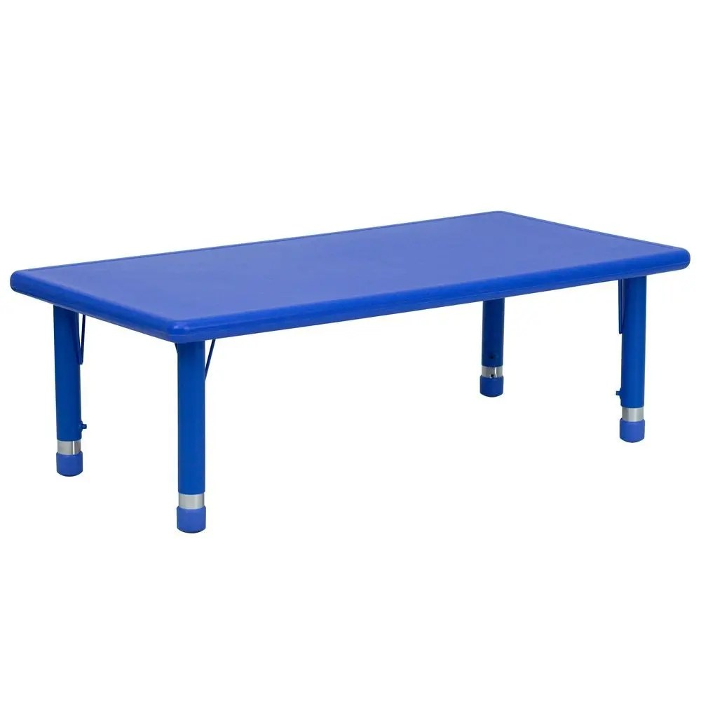 Adjustable Height Activity Table Flash Furniture Yu Ycx 001 2 Rect Tbl Blue Gg Height