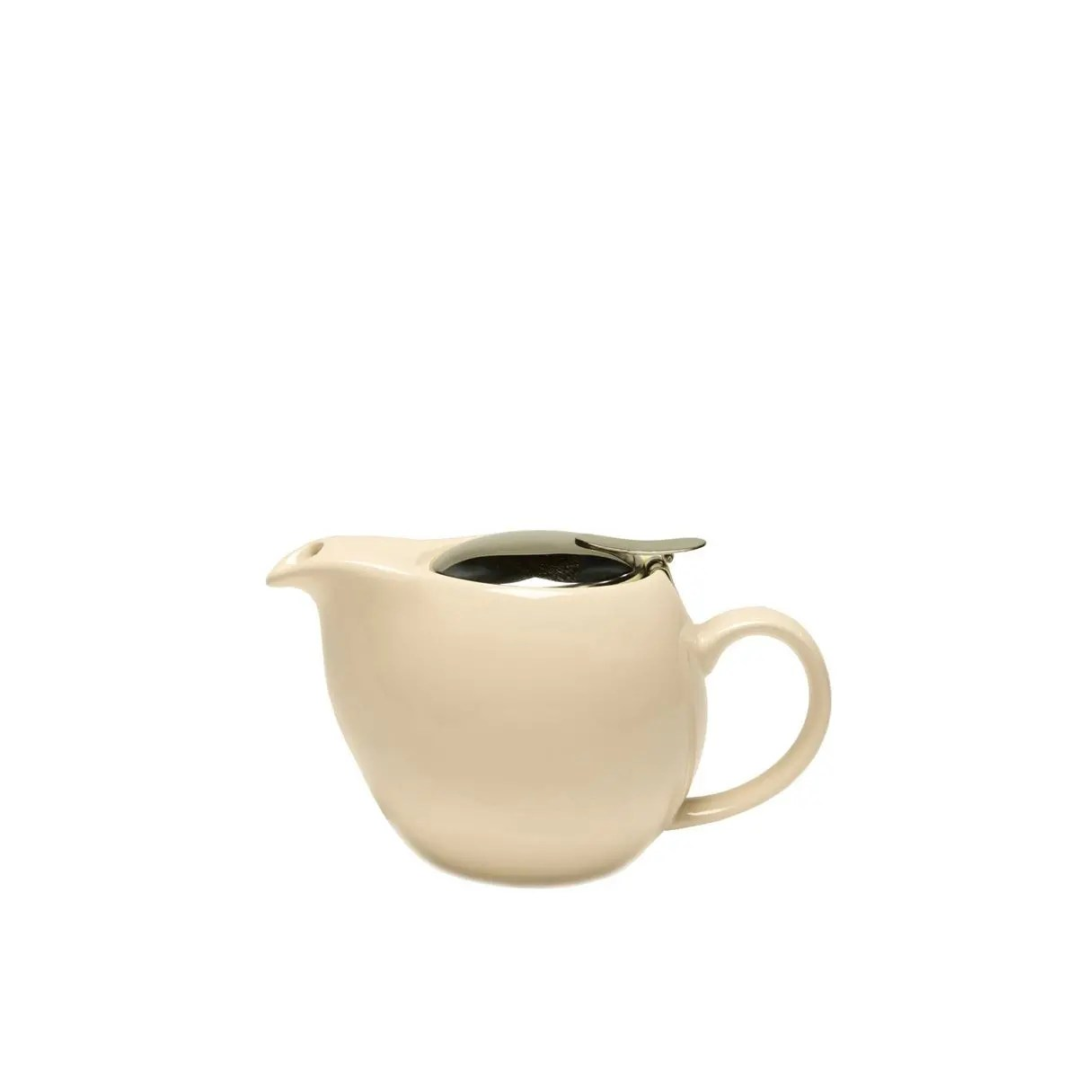 Ceramic Teapot With Infuser Service Ideas Tpcv16cm Oval Cream Ceramic Teapot With Lid