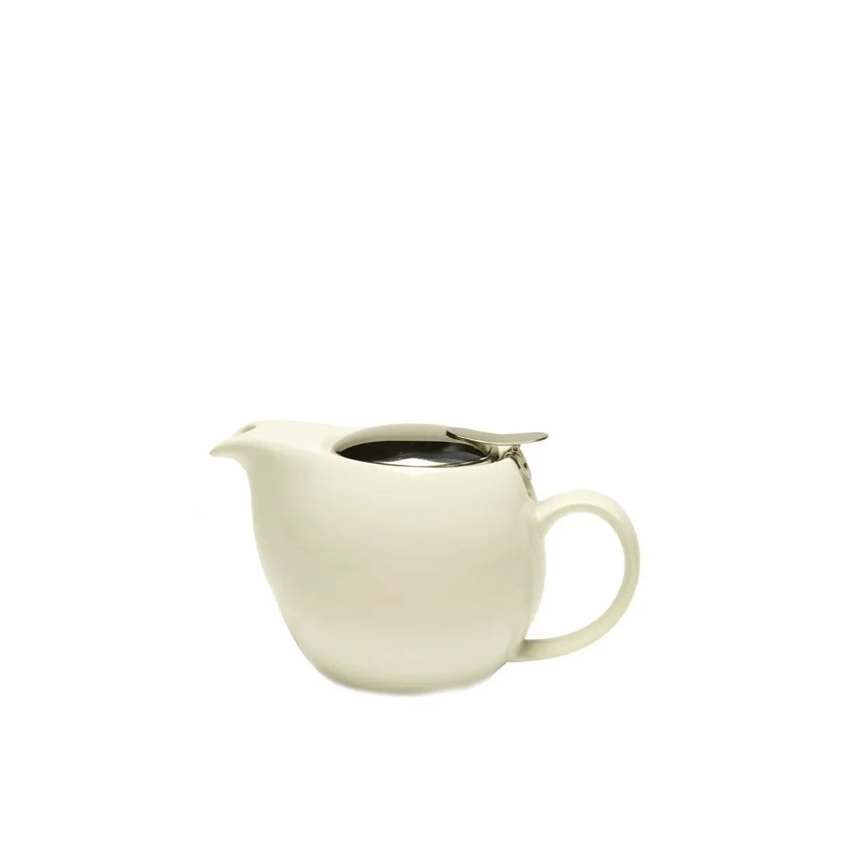 Ceramic Teapot With Infuser Service Ideas Tpcv16wh Oval White Ceramic Teapot With Lid