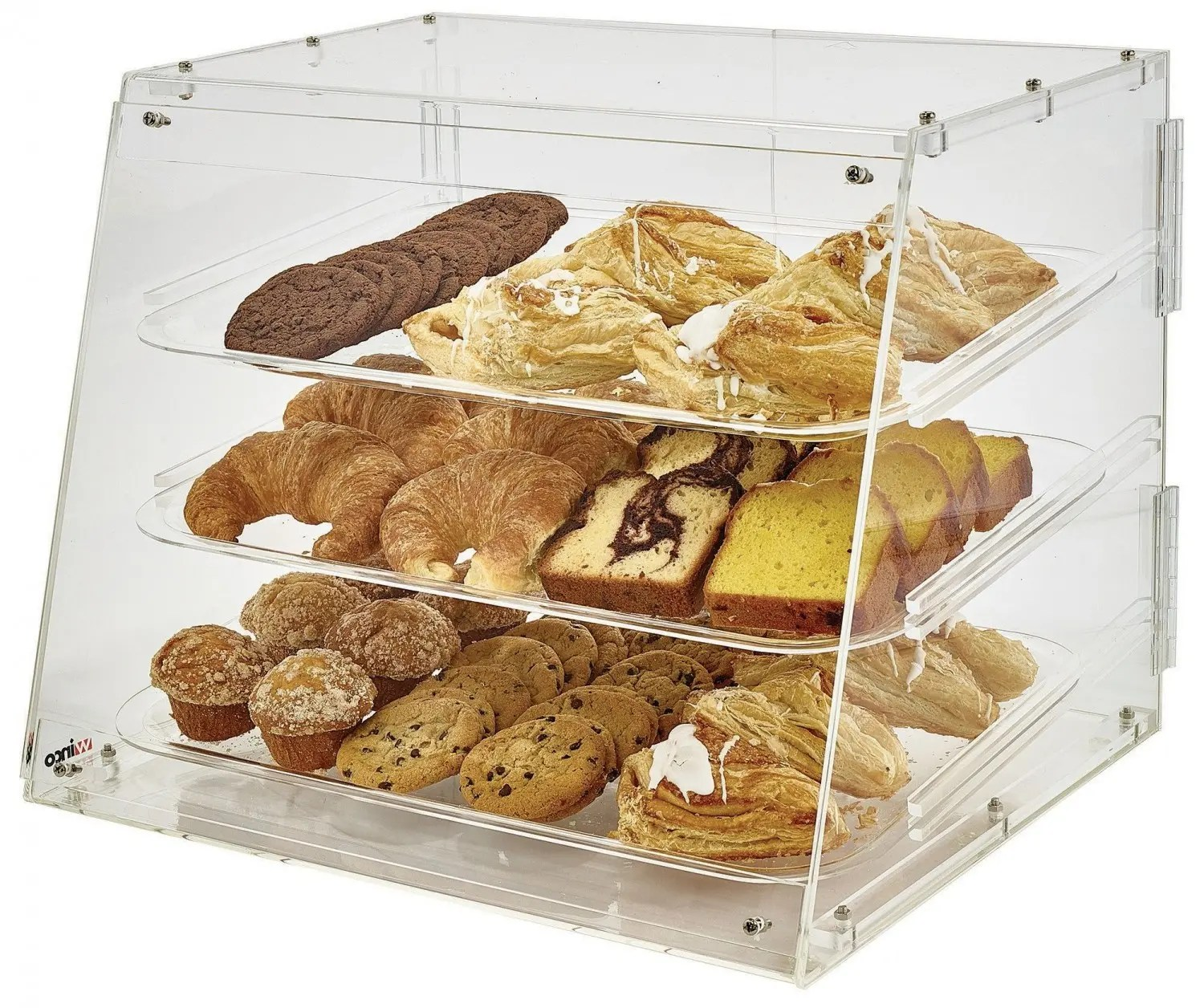 Countertop Bakery Case Winco Adc 3 3 Tier Acrylic Pastry Display Case