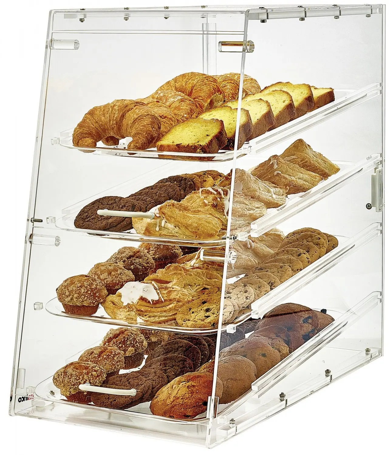 Countertop Bakery Case Winco Adc 4 4 Tier Acrylic Pastry Display Case