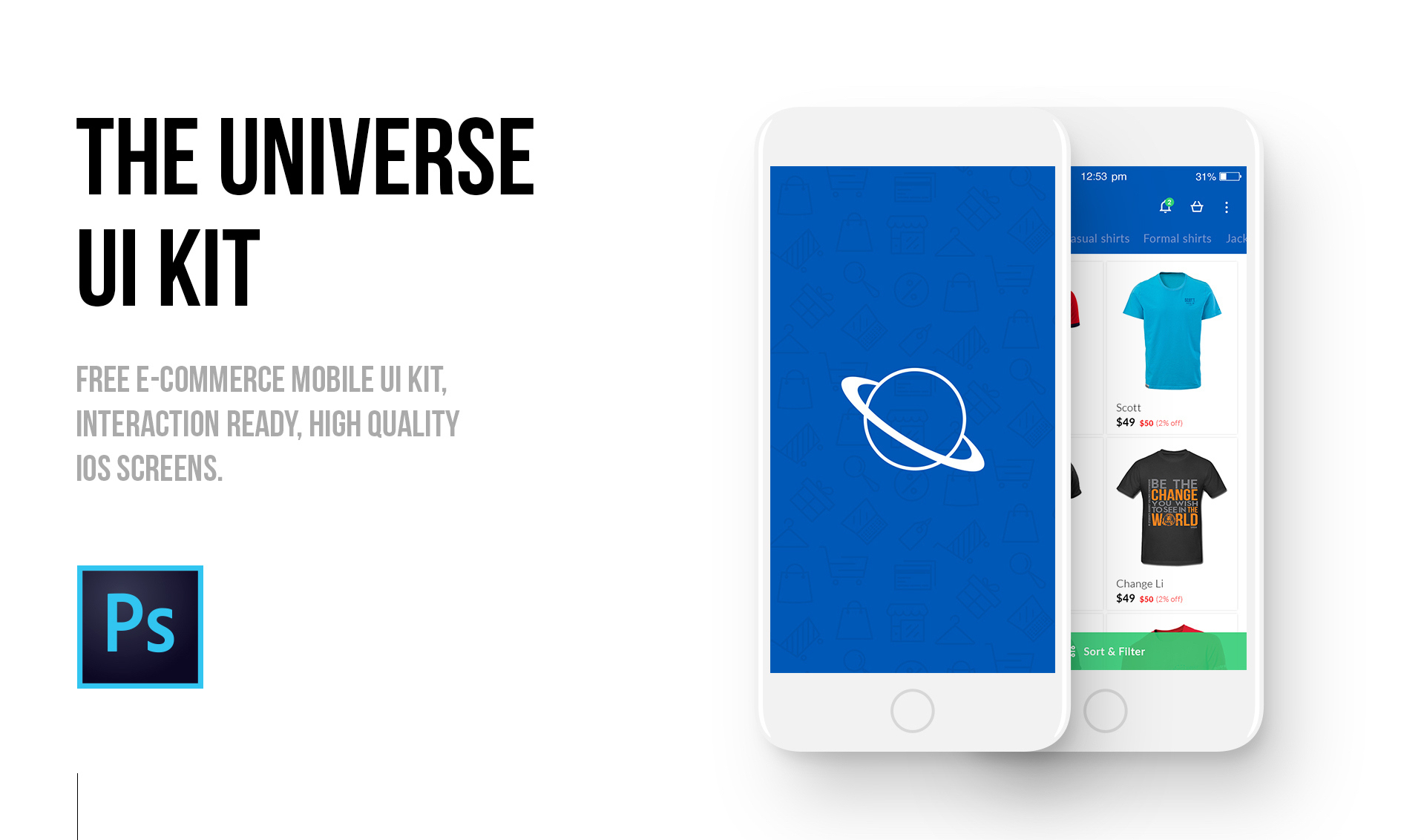 E Commerce Mobili The Universe E Commerce Mobile Ui Kit Epicpxls