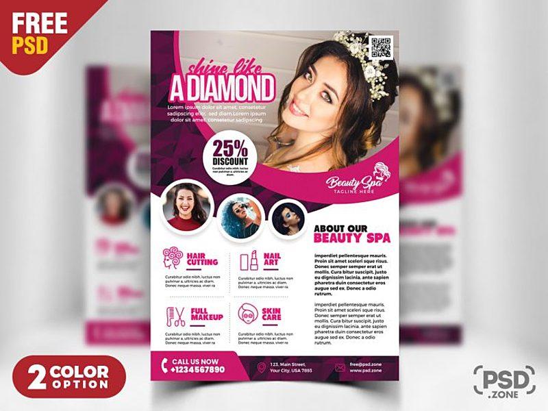 Beauty Salon Flyer Template PSD by PSD Zone ~ EpicPxls