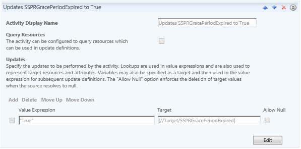 SSPR Forcing Function Screenshot: Workflow Activity Updates SSPRGracePeriodExpired Attribute to True