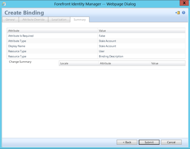 Disable Stale (Inactive) Accounts in AD via FIM - Create StaleAccount Binding