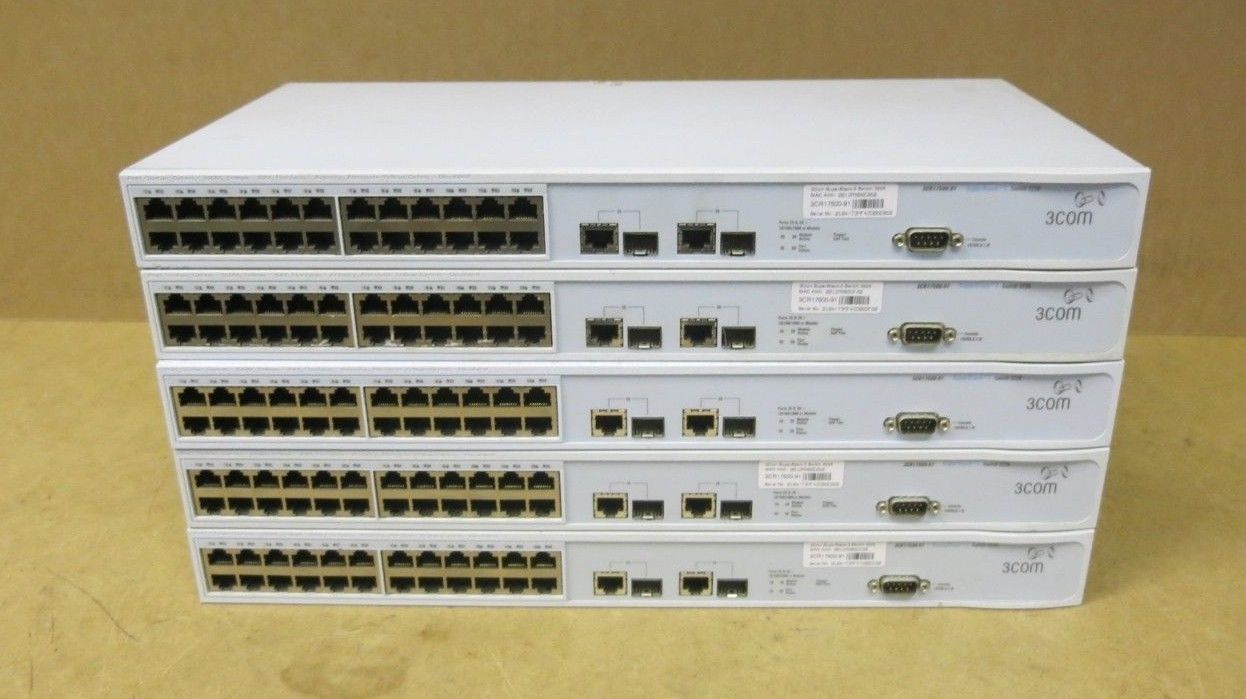 Port Network 5 X 3com Superstack 3 Layer 10 100 24 Port Network Switch 3226