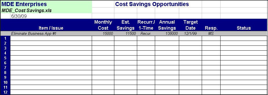 Calculate annual costs and savings with excel template youtube