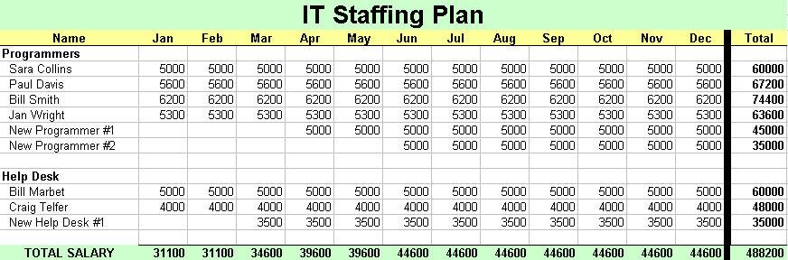 staffing budgets template - Maggilocustdesign