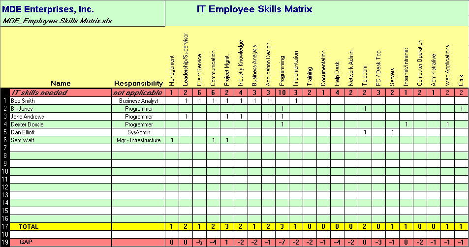 Assess IT support capability and capacity with an IT Employee Skills