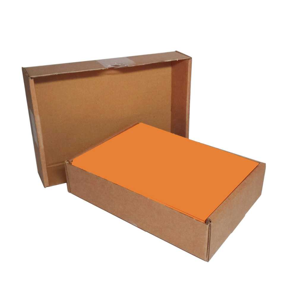 Farbiges Papier 500 Blatt A5 Papier Farbig Intensiv Orange 80g M²